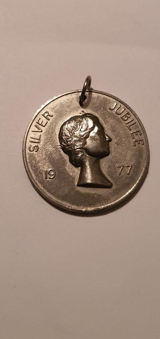 moneda/medalla Elisabeth SILVER JOBILEE
