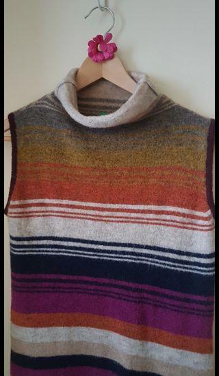 vestido lana largo benetton