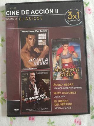 DVD - CINE DE ACCIÓN (1 DVD CON 3 PELICULAS)