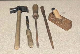 Antiguo Juego herramientas ebanista