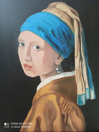 cuadro joven de la perla