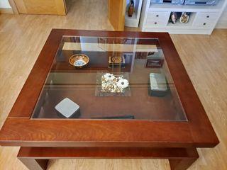 Mesa Salón + lámpara