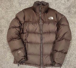 Brown Northface Nupste 700 puffer jacket