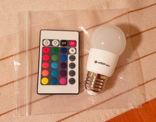 bombilla LED 3w. con mando
