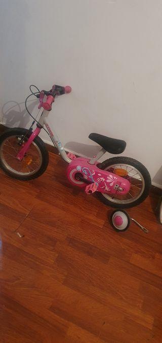 Bicicleta niña de 3 a 4 y 5 años