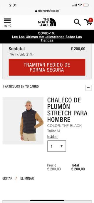 Chaleco negro north face