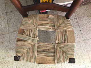 Restauración de sillas de Enea , tapizado y rejill