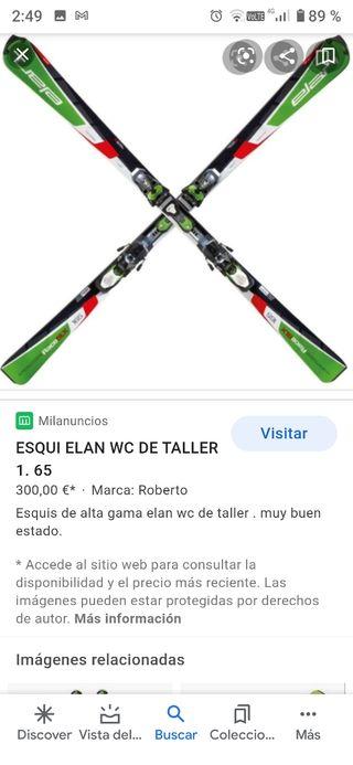 esquí elan wc taller