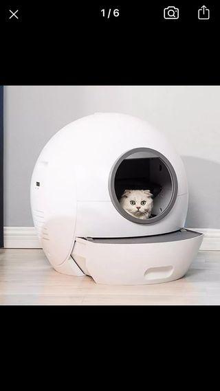 Arenero gato automático