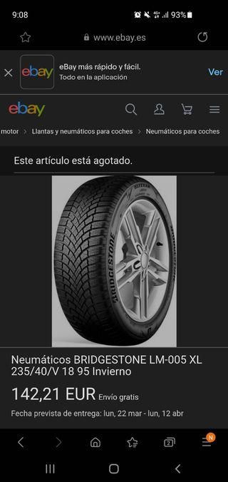 Ruedas Bridgestone Blizzak Runflat invierno 235/