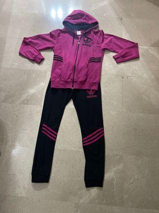 Chándal Adidas rosa y negro