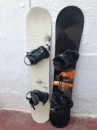 vendo 2 tablas de snowboard