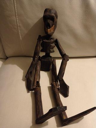 Marioneta en Madera Calaveras y Diablillos