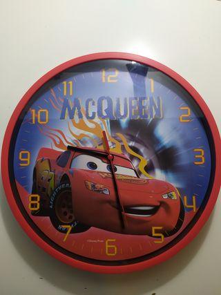 reloj pared rayo mcqueen