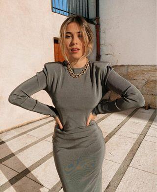 vestido largo zara con espalda abierta nuevo