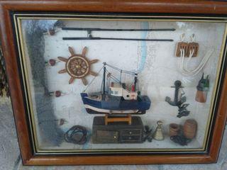 maqueta barco. cuadro