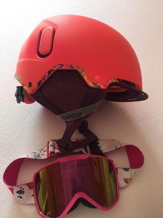 casco y gafas esqui wedze mujer