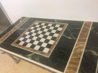 Tablero mesa ajedrez marmol