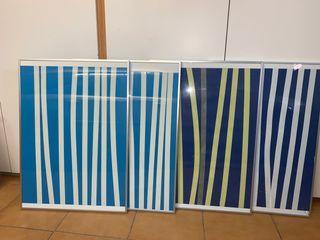 Pack de 4 cuadros de colores diversos