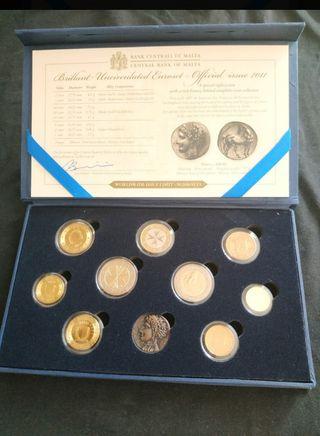 sets de monedas malta 2011,2012 y 2013