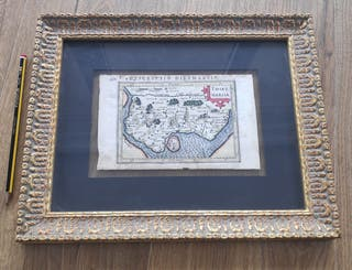 Antiguo mapa alemán siglo XVII.