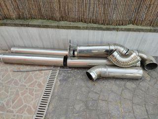 chimenea de inox para caldera de gasoil