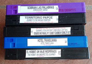Cinta video VHS. Películas