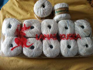 12 Ovillos para tejer - 54% algodón