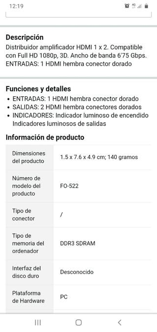 distribuidor amplificador HDMI