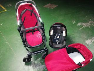 Carrito bebé (trio) GRACO + complementos