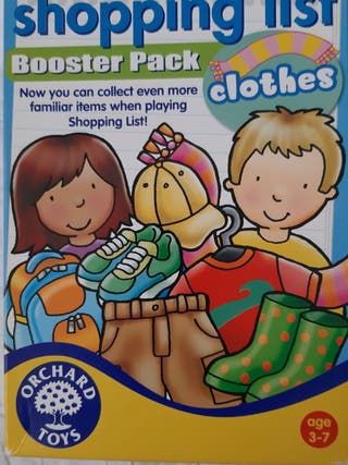 JUEGO DE MESA. Shopping List Booster Pack Clothes