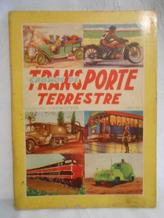 Álbum de cromos TRANSPORTE TERRESTRE Ed. FHER 50´s