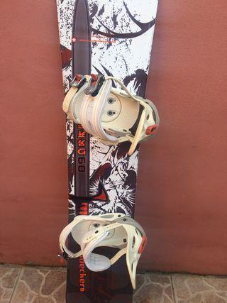 Tabla de snowboard Nidecker con fijaciones