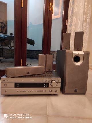 Home cinema Yamaha + DVD sony