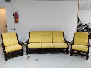 Conjunto sofá + 2 sillones
