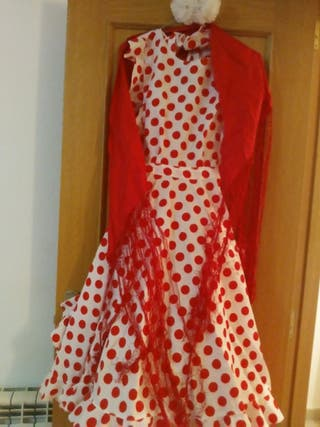 falda y complementos flamneco sevillanas
