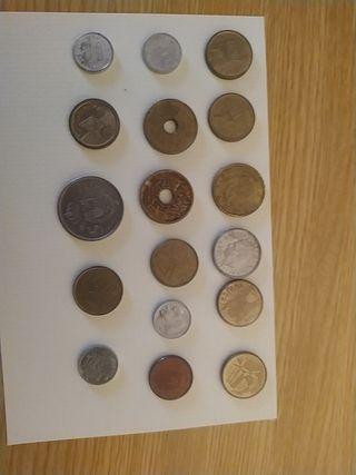 monedas diversas entre los años 80 y 90