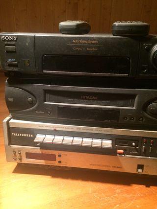 Tres videos VHS