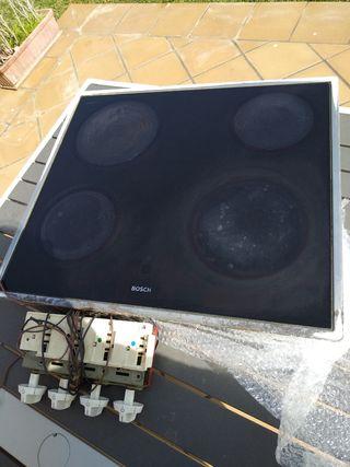 Placa Vitrocerámica Bosch con mandos