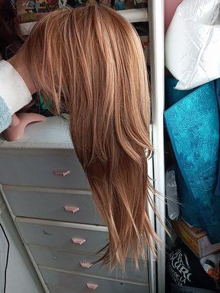 peluca lisa sintetica wig ropa mujer