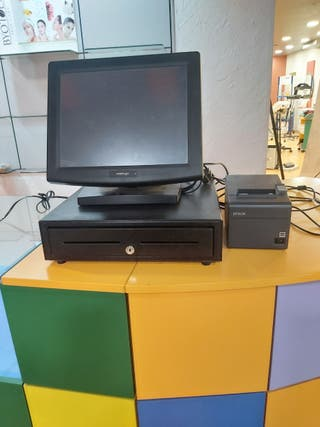 Tpv táctil, caja registradora e impresora