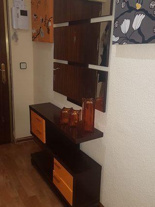 Urge!!Conjunto Recibidor entrada espejo y mueble