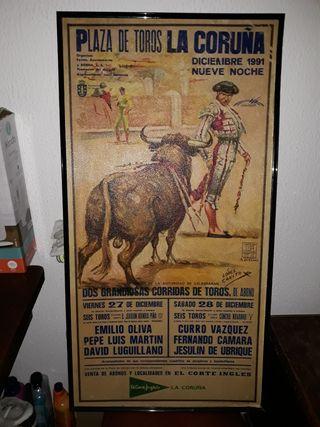 cartel de toros coruña