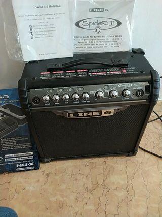 amplificador + pedal multiefecto