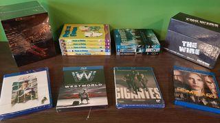 Lote de series de televisión bluray, dvd y 4K UHD