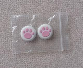 Grips de mando patitas rosas nuevos sin usar