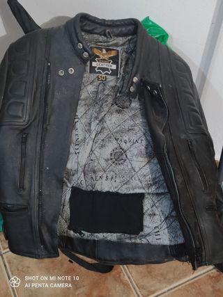 chaqueta de cuero moto