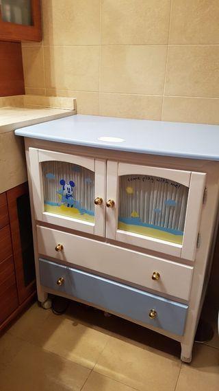 Mueble Cambiador Disney