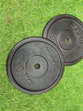 Discos pesas 10kg (pareja) 28mm