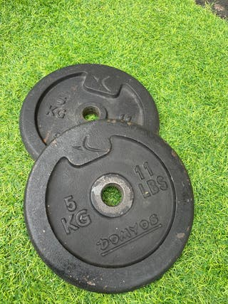 Discos pesas 5 kg (pareja) 28mm
